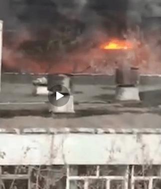 В Москве продолжается пожар на складах возле Варшавского шоссе (уже 7000 кв.м.)