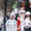 Большой парад Дедов Морозов прошествовал по центру Пятигорска