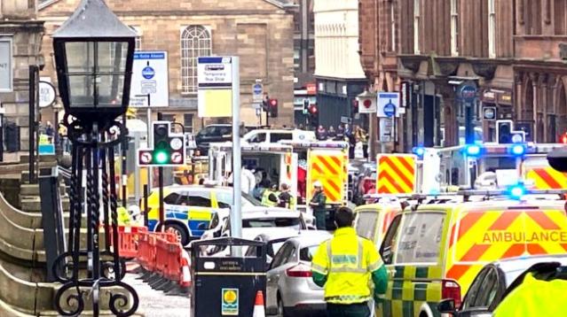 В центре Глазго произошло нападение