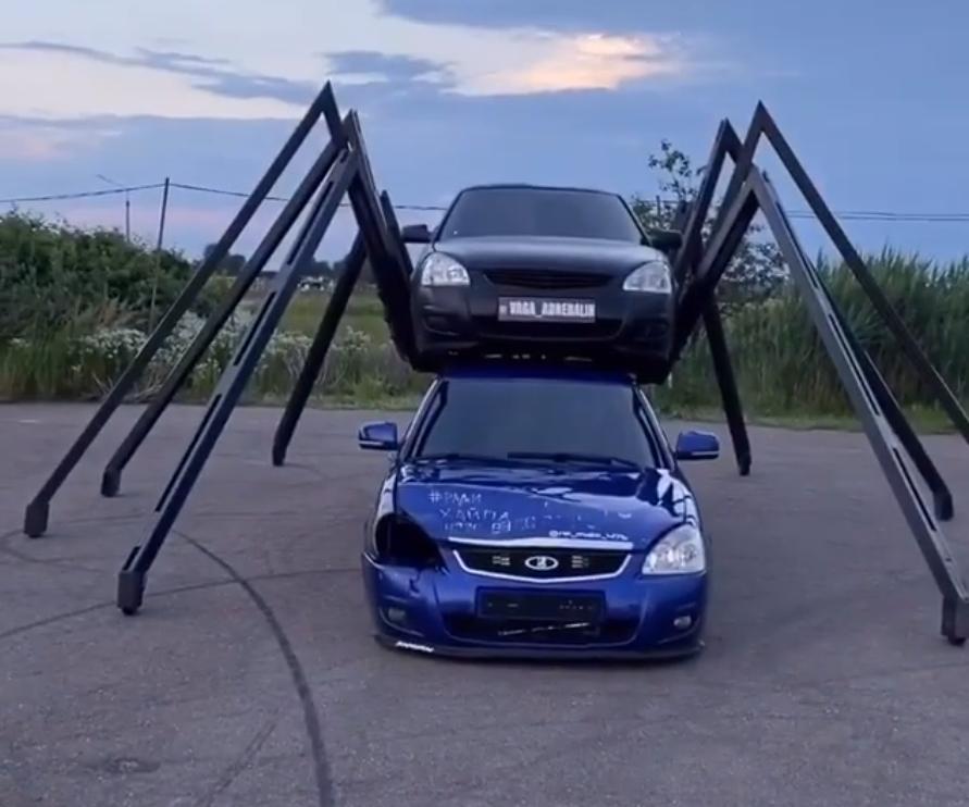 За миллион рублей продает необычную машину – паук житель Краснодара