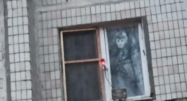 Ростовчанин отпугивает жуликов чучелом из окна