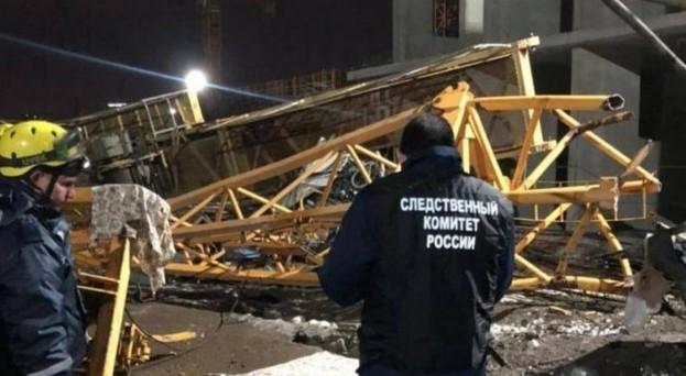 Два человека погибли в результате падения башенного крана в Краснодаре